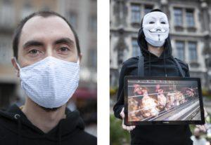 Portrait von Dennis Hartmann (Activists for the Victims) mit Mund-Naseschutz