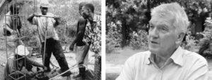 Manuelle Brunnenbohrung im Kongo und Portrait von Hartmut Heuser (Brunnenbau-macht-Schule)