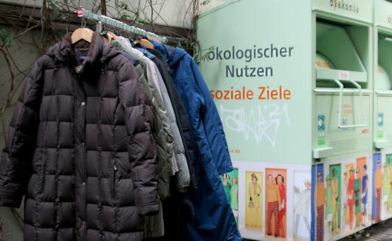 Kleidercontainer und Kleiderspenden für nachhaltig ökologischen Nutzen