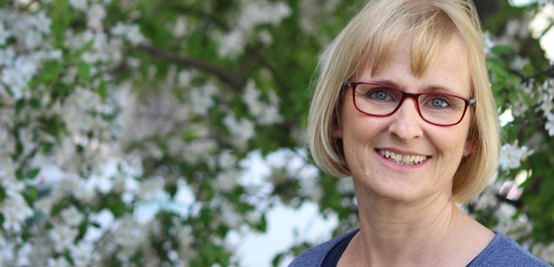 Teilnehmerin des Kurses Pressereferentin Crossmedia an der Journalistenakademie München, Sylvie Hermann, Foto: Teresa Groß