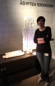 Porträt von Roxane Bicker im Raum Ägypten erfassen in München. Selbsttest, Freiraum