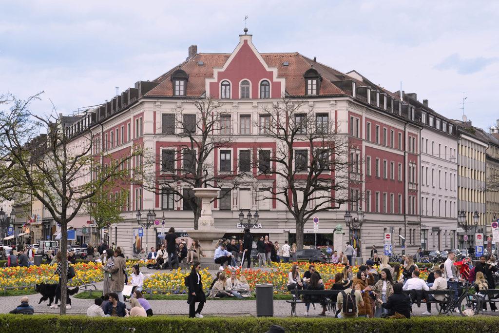 Der Gärtnerplatz tagsüber in München; Foto: Karoline Rupperti