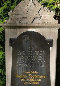 Grabstein mit Davidstern im jüdischen friedhof Gauting