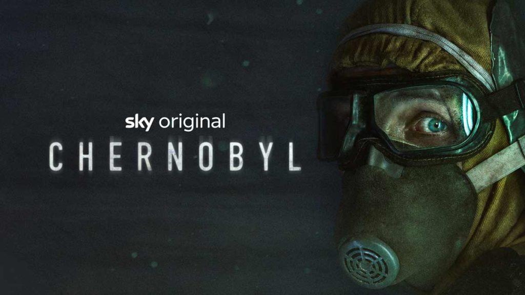 Original Artwork der Serie Chernobyl Mensch mit Gasmaske