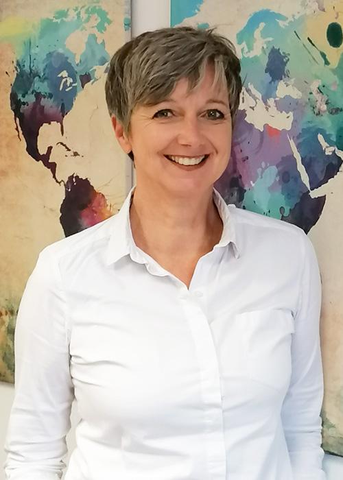 Portrait Sabine Simon, Leiterin der Schwangerschaftsberatung im Evangelischen Bildungszentrum, München