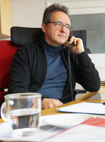 Portrait-Foto von Pfarrer Norbert Ellinger, Leiter dder Telefonseelsorge