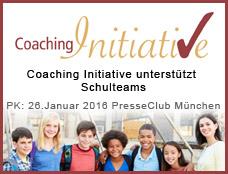 """Logo zur Pressekonferenz """"Coaching Initiative unterstützt Schulteams"""" am 26.1.2016 im Presseclub München"""