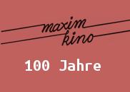Pressemappen-Logo zum 100jährigen Jubiläum des Maxim-Kinos, München