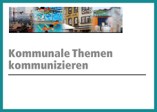 """Logo zur Pressekonferenz """"Kommunale Themen kommunizieren"""" am 27.4.2015 in München"""