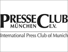 """Logo zur Pressekonferenz """"PresseClub München ist zurück im Stammhaus am Marienplatz"""" am 1.8.2017 im Presseclub München"""