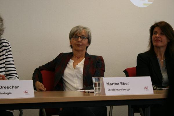 Auf dem Podium: Martha Eber und Petra Horn