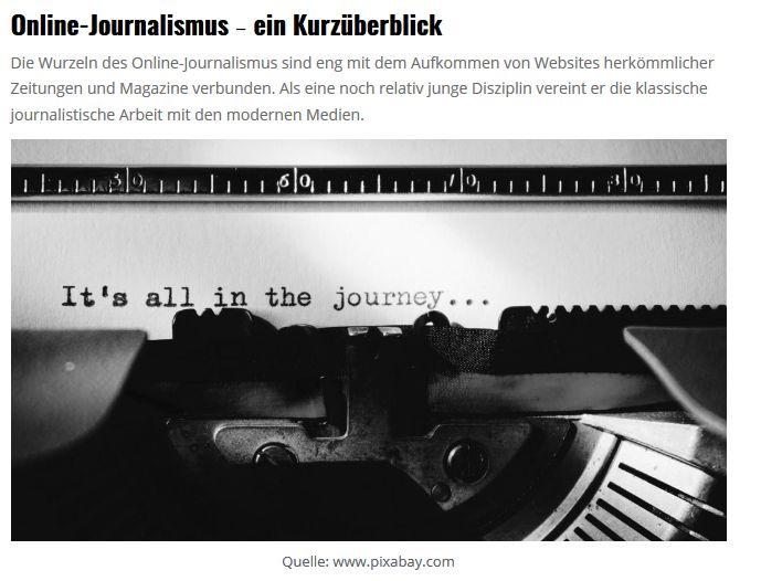 Teeser zum Einführungstext Online-Journalimsus
