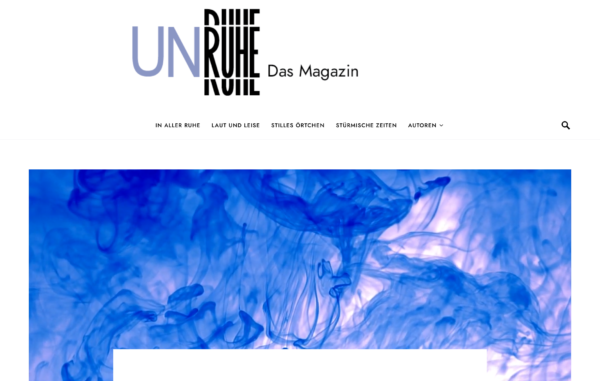 Cover Magazin UnRuhe