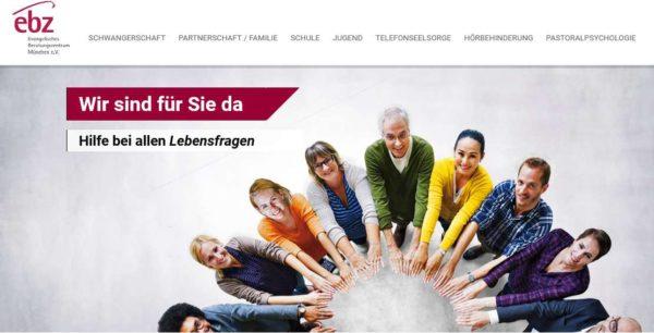 Die Startseite der ebz-Website