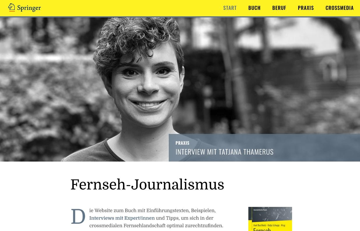 Startseite der Website Fernseh-Journalismus